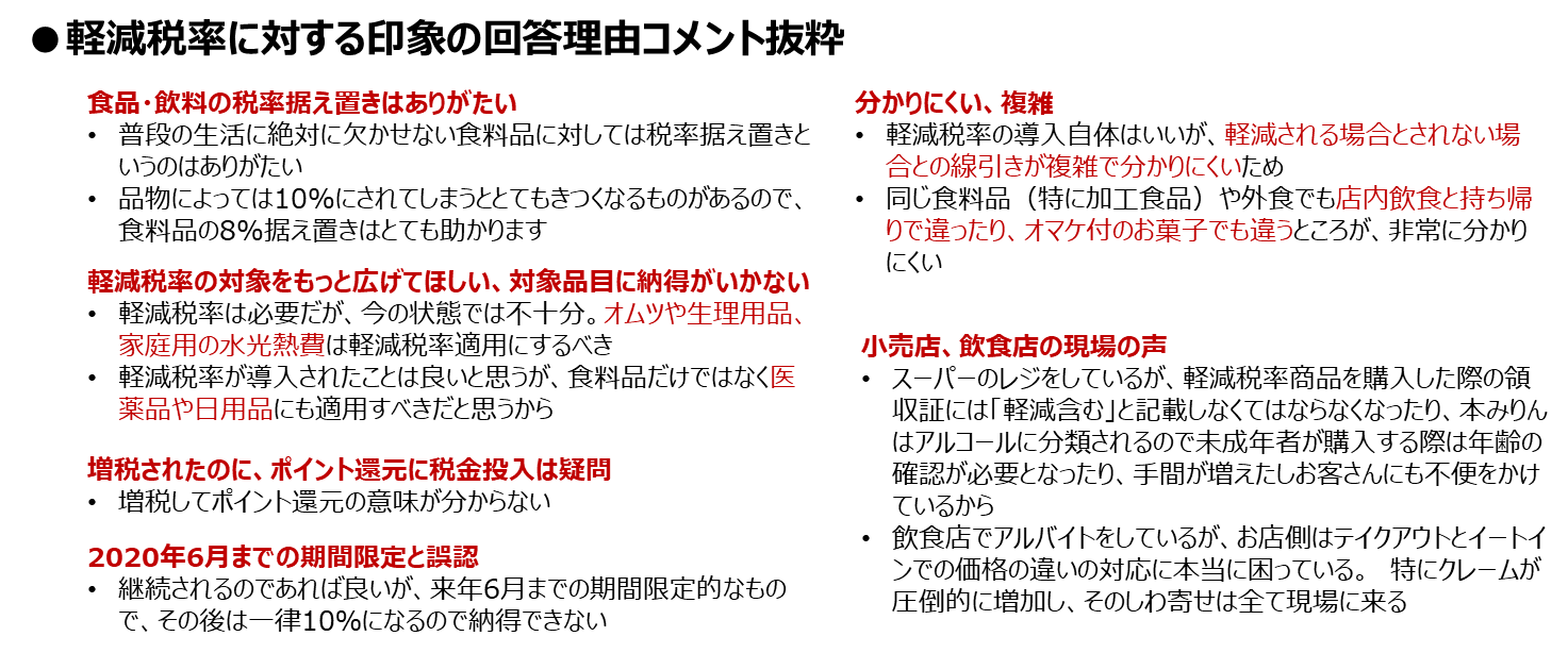 増税1ヶ月_図表4_軽減税率ポジネガ理由_知るギャラ.png