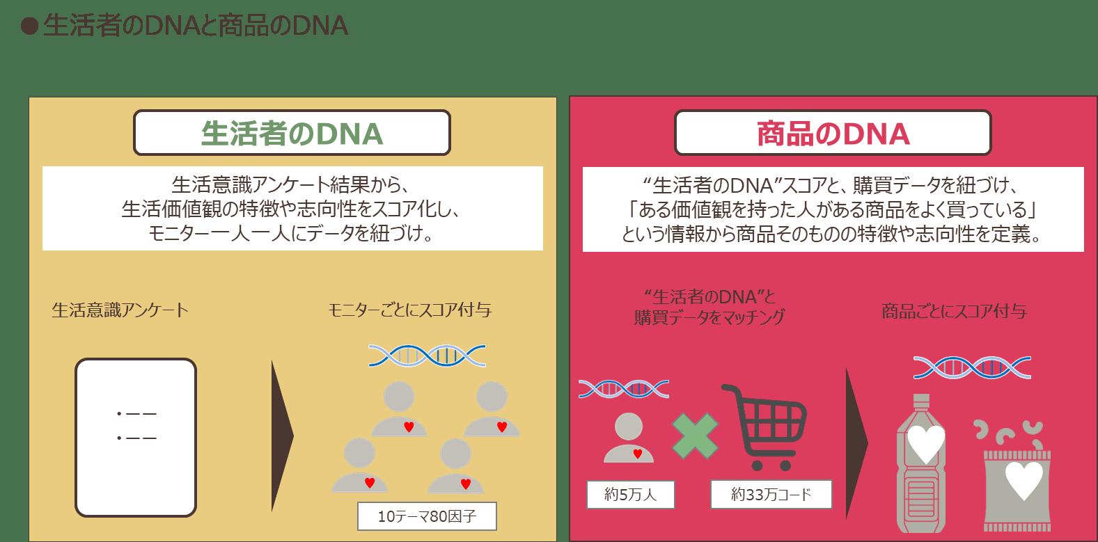 生活者のDNAと商品のDNA